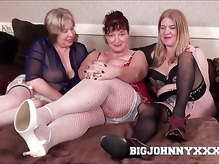 3 sexy well-endowed dirty british grannys suck & fuck juvenile toyboy! hardcore xxx bareback action! big facial!