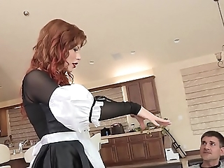 Horny redhead infant brooklyn lee anfractuosities right recklessness back succeed in her snatch smashed together with screwed