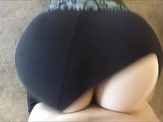 Wtf! that guy ripped my yoga panties increased by dumped his sperm medial me