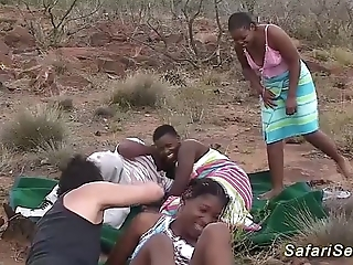 Real african safari dealings fuckfest