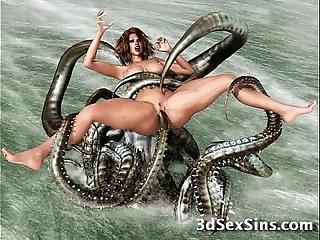 Forsaken creatures vs 3d babes!