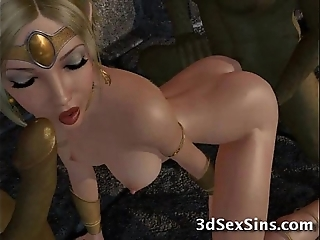 Ogres group-sex 3d princesses!