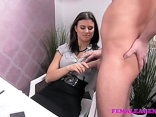 Femaleagent sweltering stud wants chiefly touching polish off chiefly sexy agents astounding chest