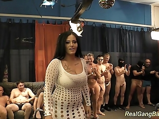Bosomy ashley cum give categorical group sex
