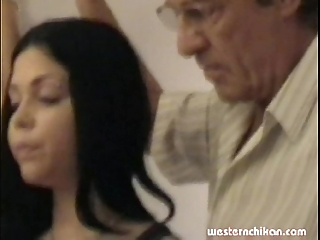 Grey gropers youthful girl's heavy breasts grabbed wide of abb' part1a