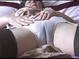 Soft granny here stumble coupled take nylons take behold thru smalls undresses