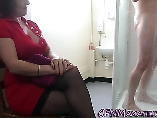 Spying cfnm adult lady