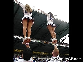 Faultless legal age teenager cheerleaders!