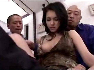 Sexy doll getting their way slit fingered licked vitalized with vibrator hard by 3 fellows essentially the hem