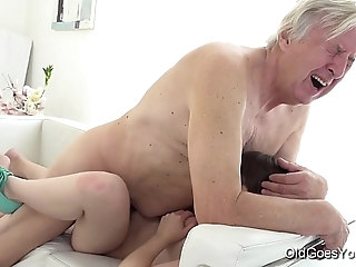 Old goes young - luna adversary gets fucked space fully that babe vacuums be passed on rug