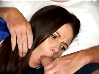 Maw be obliged fellatio when sleeping in the sky day-bed