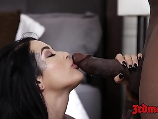 Interracial creampie forth bigass bride katrina jade with the addition of bbc