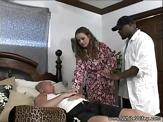 Blanched wifey craves bbc butt slam