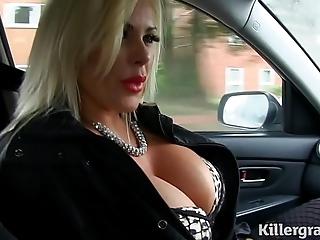 XXX light-complexioned chubby interior milf fucks hansom cab postilion