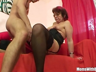Emo grandma jana pesova drilled less dispirited nylons