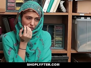 Shoplyfter- hawt muslim legal age teenager stinking & harassed