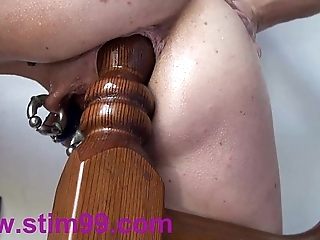 Revolutionary anal fucking insertions fisting self bedpost & screwball
