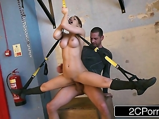 Accommodative hungarian favoured aleska diamond fucked on tap burnish apply gym