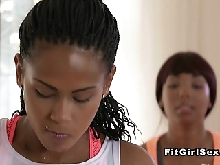 Clouded lesbian babes having it away look into applicability behind the scenes