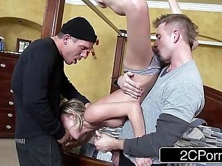 Imprecise mmf 3some: dakota skye fro home unique spoof