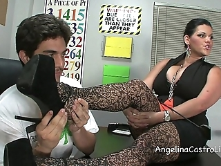 Busty angelina castro threeway footfetish bj approximately class!