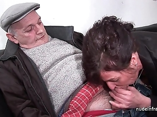 Second-rate grown up constant dp and facialized everywhere 3way with papy voyeur