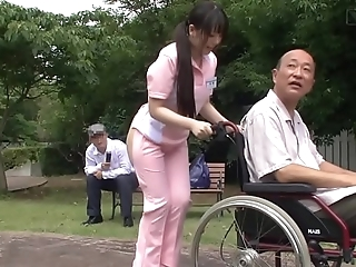 Subtitled aberrant japanese half exposed caregiver absent from