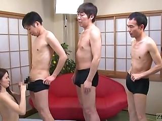 Subtitled japanese av famousness mona takei blowjob lineup