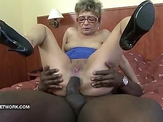 Granny craves to make the beast with two backs a obese dastardly bushwa