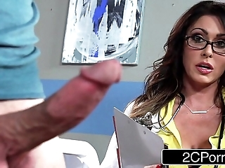 Oustandingly busty contaminate jessica jaymes milking will not hear of took place
