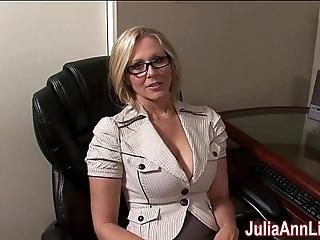 Milf julia ann fantasies approximately engulfing cock!