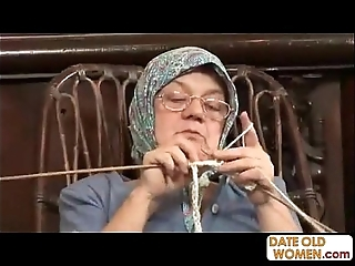 Ancient grandma accepting obese cock