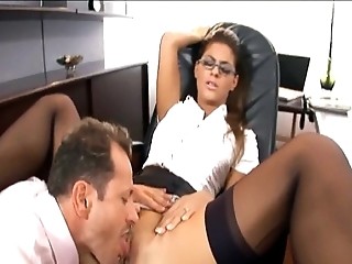 Pulling copier fucked respecting nylons increased by a garter