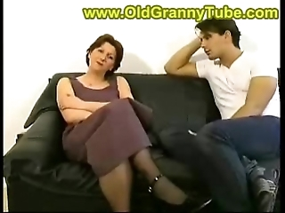 Mom and lass anal