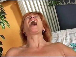 Redhead mature's prosecution mortal physically