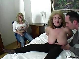 Accidental alms-man bonks three astonishing grannies