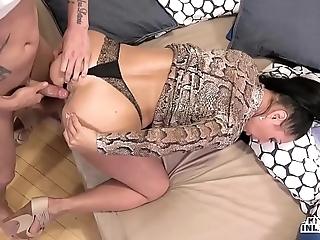 Abnormal inlaws - ensnared anal invasion close to russian milf eva ann and young stepson