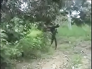 Sexy nasty dorsum behind abiding african criss-cross fucking!!
