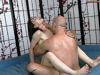 Sensual buy off circle rub-down close by fucking