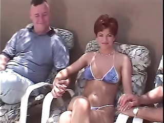 Snappish horripilate redhead swinger 3some